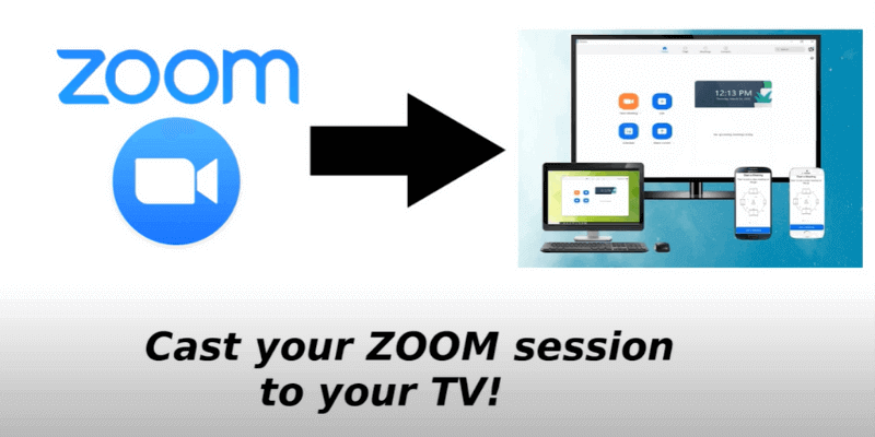 How to cast Zoom to TV from laptop